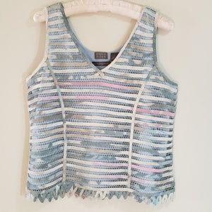 Sigrid Olsen Tops - Party Top by Sigrid Olsen, Blue, Sz L